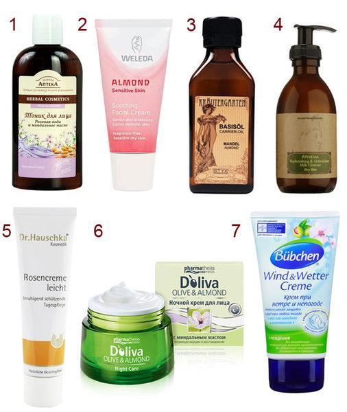 Миндальное масло для лица и волос